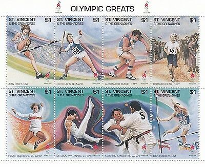 (88117) St Vincent Grenadines MNH Olympiques 1996