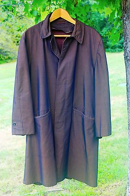 Vintage Sharkskin Trench Coat Single Breasted Iridescent 1960 Mad Men Overcoat