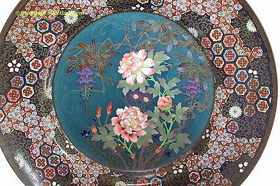 Antique Japanese Meiji Period: BEAUTIFUL PAIR OF CLOISONNE CHARGERS