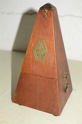Antique/Vtg MAELZAL French METRONOME w/Working ADJUSTABLE Time Signature BELL