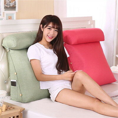 Adjustable Sofa Bed Chair Rest Neck Support Back Wedge Cushion Fip Pillow AS