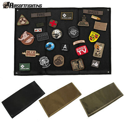Tactical Wall Hanging Military Patch Holder Board Patch Panel Holder Folding Mat