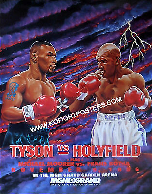 MIKE TYSON  vs  EVANDER HOLYFIELD  (1)  VIP/High Roller Invitee Boxing Poster