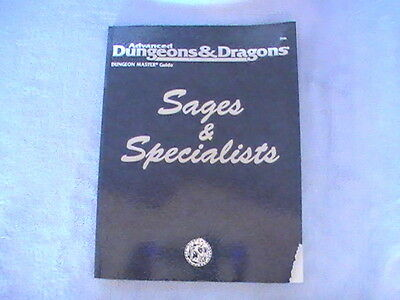 TSR Advanced Dungeons & Dragons D&D: Dungeon Master Guide Sages & Specialists!