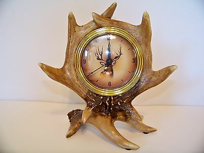 Beautiful Deer Antler Desk or Mantel Clock Gift