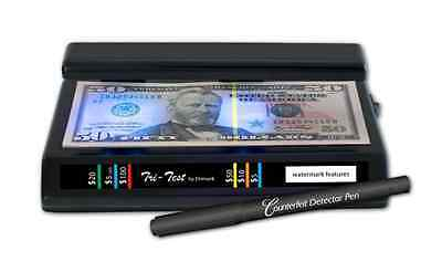 Dri Mark Products Tri-Test Ultraviolet Counterfeit Detection System, Black (351T