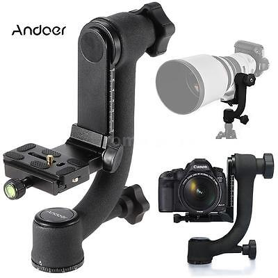 360°-Panoramic Gimbal Tripod Head Quick Release Plate Camera Telephoto Lens Z1Q9