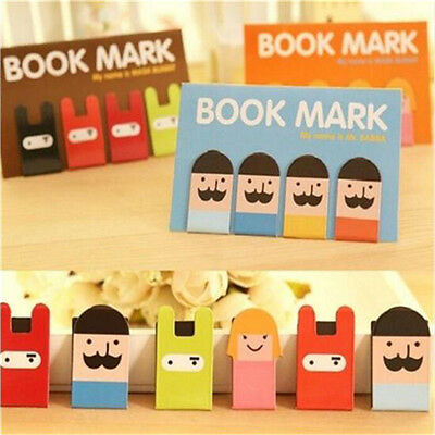 Lovely Girl Beard Magnetic Bookmark Book Mark Clip Decoration 1 Set 4pcs