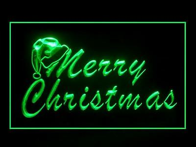 Classic Merry Christmas Greeting Display Ads Led Light Sign G