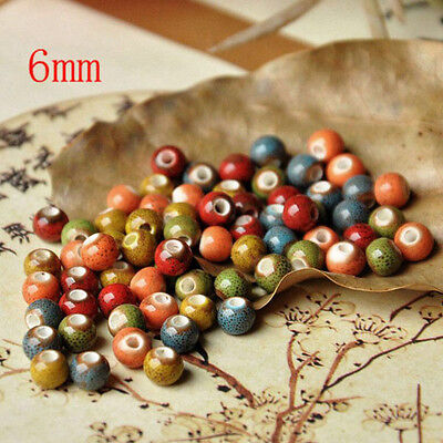 Jingdezhen ceramic! 50/100pcs Ceramic leopard beads DIY Accessories 6MM