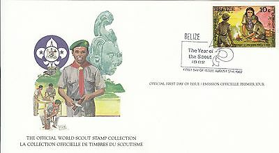 (90167) Belize FDC Karte Scouts - 31 August 1982