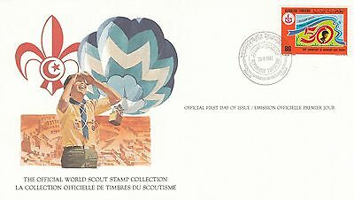 (90233) Tunisia FDC Card Scouts 23 August 1982