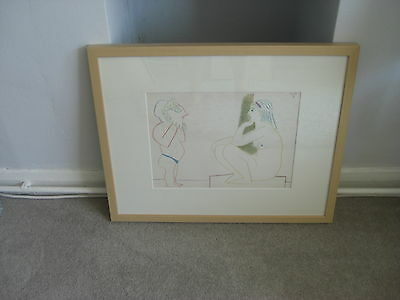 SALE 1/2 price! PABLO PICASSO - ORIGINAL LITHOGRAPH  FROM 1954 - FRAMED