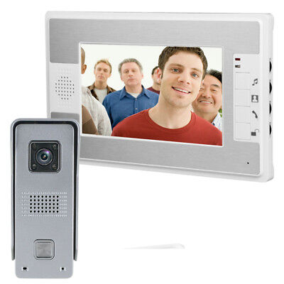 """US 7"""" TFT LCD Monitor Wired Color Video Door Phone Doorbell Home Intercom System"""