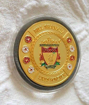 100th BIRTHDAY COMMEMORATIVE MEDAL - BILL SHANKLY - LIVES FOREVER