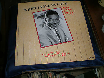 """Nat King Cole - When I Fall In Love - 1987 Capitol Label 12"""" Ep - Exc."""
