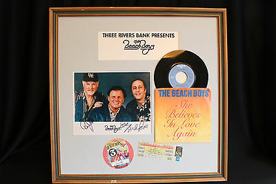 The Beach Boys Autograph Photo Back Stage Pass Ticket Record 1999 Pittsburgh Pa.