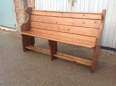 Victorian Pitch Pine Pew/settle Free Uk Delivery !!!