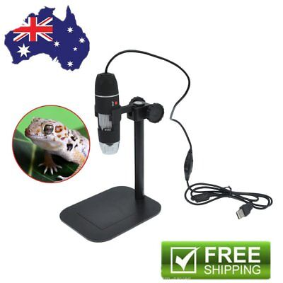 50X-500X 8LED USB Digital Microscope Endoscope Electronic Camera With Stand BF