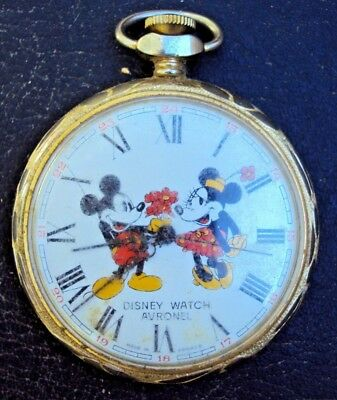 Montre A Gousset Mécanique Disney Watch Avronel Mickey