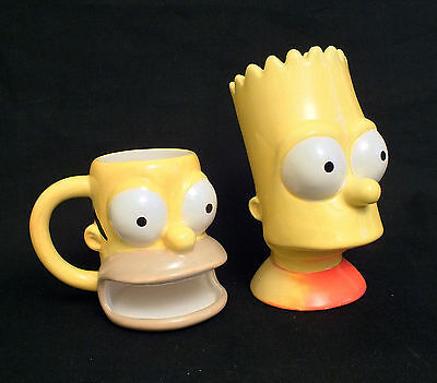 Collectable Fox Homer Biscuit/cookie Mug + Bart Simpson Ceramic Money Box