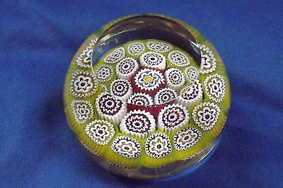"""Murano Paperweight Fratelli Toso 19 intricate Canes Facet Top 2 3/4"""" Wide Mint"""
