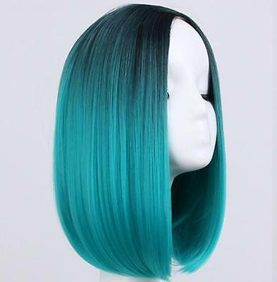 Heat Resistant Synthetic Lace Front Ombre Wigs Long Straight Bob Wigs New