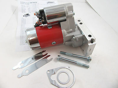 SBC Chevy Mini Starter High Torque Red 3HP 153 168 Tooth 350 400 Small Block