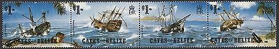 (91689) Cayes of Belize MNH Shipwrecks 1985 unmounted mint