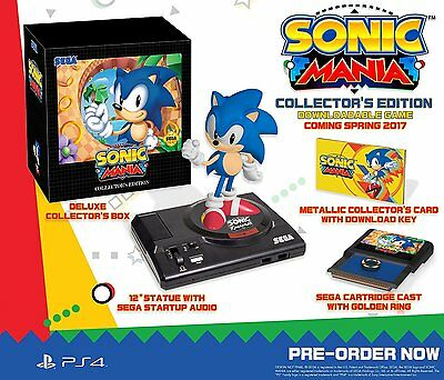 Sonic Mania Collector's Edition PS4 PlayStation 4 NUOVO NEW SEALED - Preorder