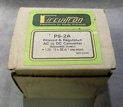 Circuitron PS-2A Filtered & Regulated AC to DC Converter 800-5305 NIB