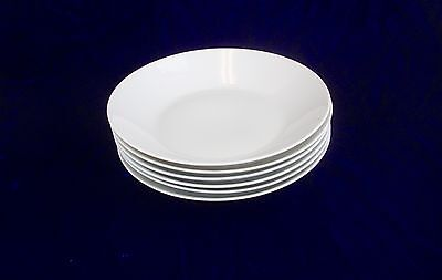 ROSENTHAL Classic Modern White Coupe Pasta Soup Bowls Set of 6