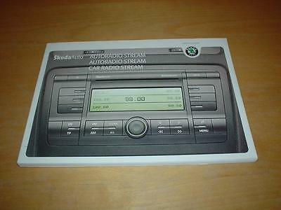 SKODA STREAM CAR RADIO SOUND SYSTEM OCTAVIA FABIA Owners Handbook Manual Book
