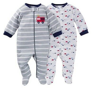 Gerber Baby Boys 2-Pack Firetrucks Sleeps 'n Plays Set Size 0-3M BABY SHOWER