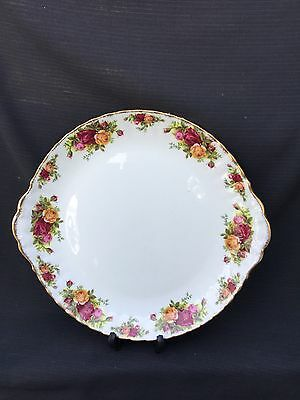 Royal Albert Old Country Rose Eared Cake Plate