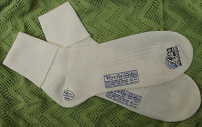 Vintage ankle socks UNUSED school uniform girl boy 1950s VIYELLA childrens sizes
