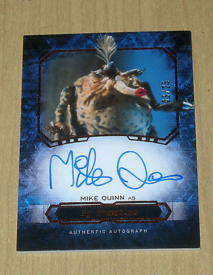 2016 Topps Star Wars Masterwork CANVAS autograph Mike Quinn as SY SNOOTLES 3/25