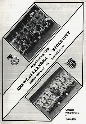 1983/84 Crewe v Stoke, friendly includes 1908 reproduction - PERFECT CONDITION
