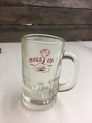 Mugs-Up Root Beer Glass Mug Pelican and Building Heavy Glass with Handle