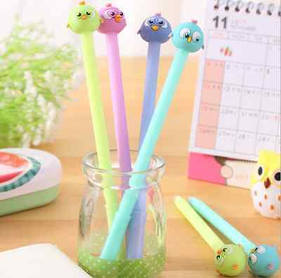 3 x Cute fine point birds pen Party Cute Kids novelty stationery Gift Bag Fun