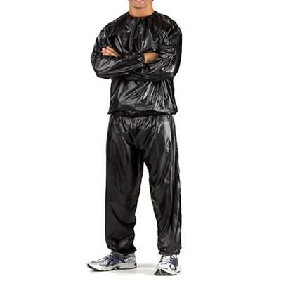 Sweat Sauna Suit Gym Exercise Fitness Training Weight Loss Anti-Rip Black XL