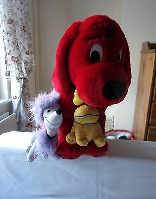 """Very Large 19"""" Tall Clifford The Big Red Dog & Friends Vgc."""