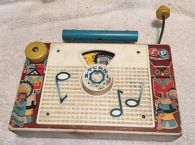 Vintage 1960's Fisher Price TV Radio Ten Little Indians Works