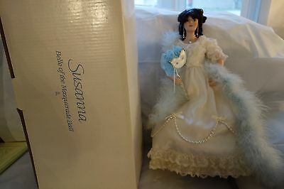 "1990 Danbury Mint Susanna Belle of the Masquerade Ball Doll-18""- MIB-LOVELY-SALE"