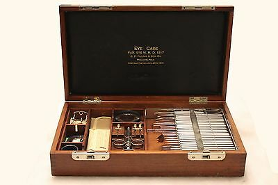 Vintage G.P. Pilling & Son Eye Case - 1918 Ophthalmic Surgical Kit - 1918 - Maho