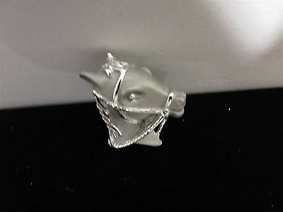 Two Tone Silver/Gray Tone Horse Lapel Tack Pin