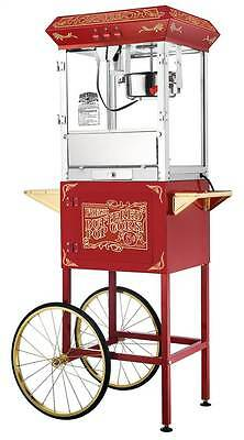 8 Ounce Old Time Popcorn Popper Machine with Cart in Red [ID 3493935]