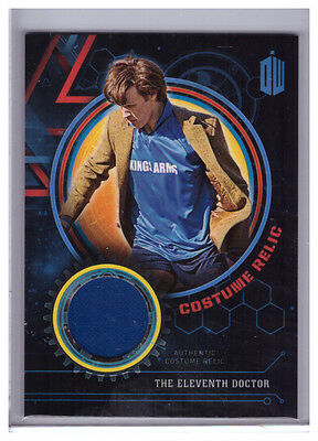 2016 Topps Doctor Who Extraterrestrial THE ELEVENTH DOCTOR COSTUME RELIC /99