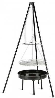 Patio Charcoal Barbecue Hanging BBQ Outdoor Garden Grill Cooking Fire Pit Burner