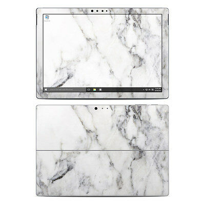 NEW Vinyl Skin for Surface Pro 3, 4, Book White Marble Sticker Decal Cover